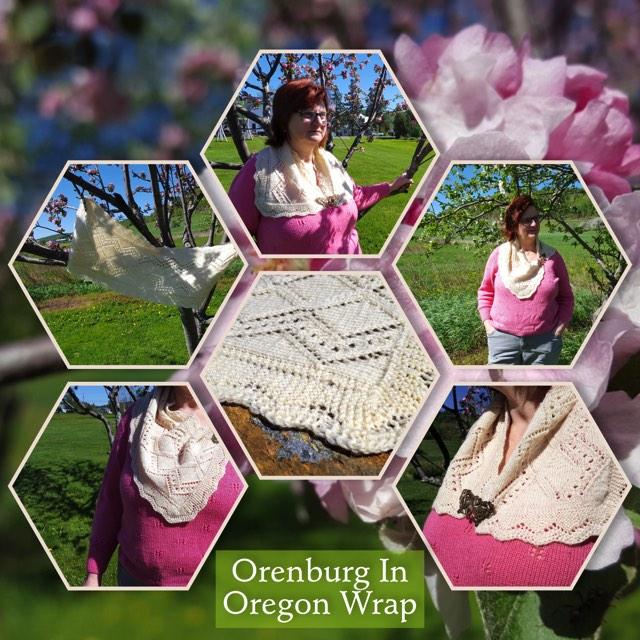 Orenburg Wrap pattern 2