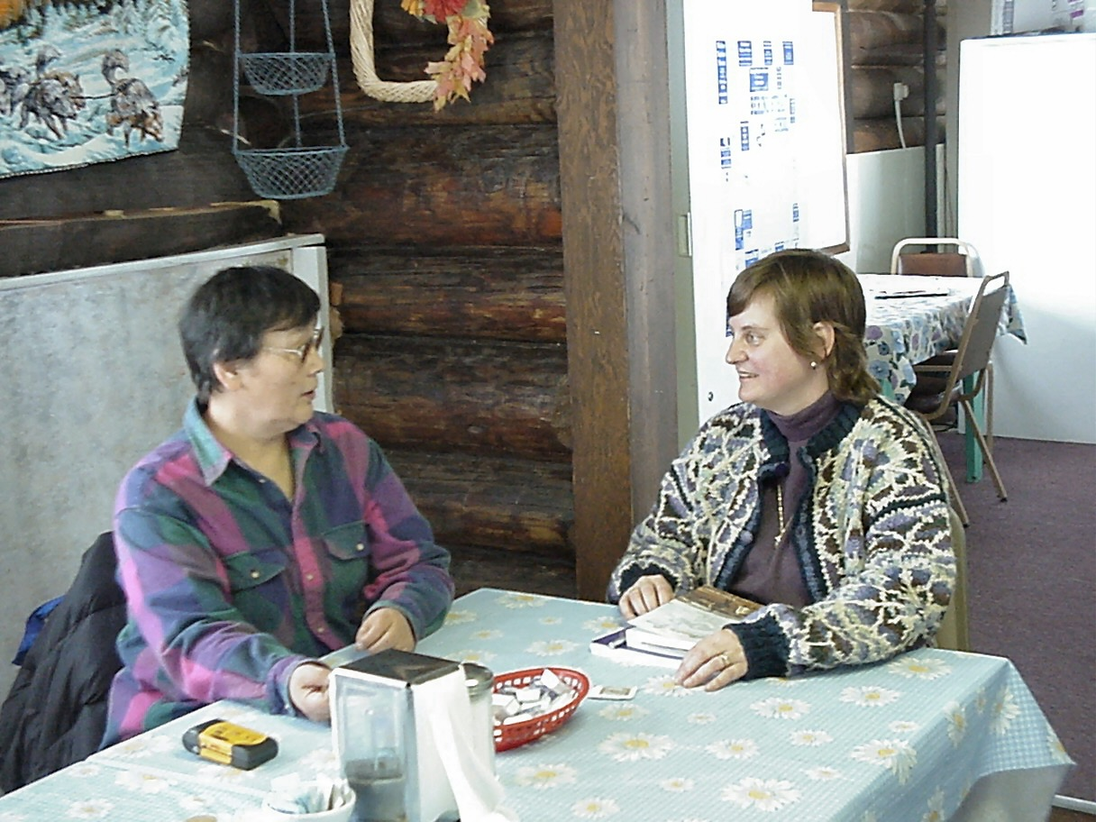 Donna and Fran in Unalakleet